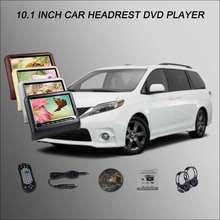 "BigBigRoad Car Headrest Monitor /2*10.1"" Digital Screen Support USB SD DVD Player Games Remote Control For TOYOTA Sienna(China)"