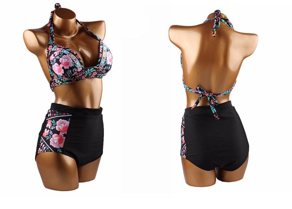 DANENJOY Sexy Printing Bikini Set Women Swimsuit Push Up Brazilian Swimwear 17 High Waist Biquines Feminino African Beachwear 18