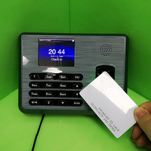 New English Menu TX628 ZK Fingerprint time attendance System Employee Time Management System and 125khz  rfid Card Time Clock