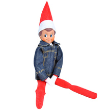 E-TING Handmade Claus Couture Clothing For Elf on the Shelf Lifestyle Boys Suit (Denim Jacket Accessories) Doll is not included