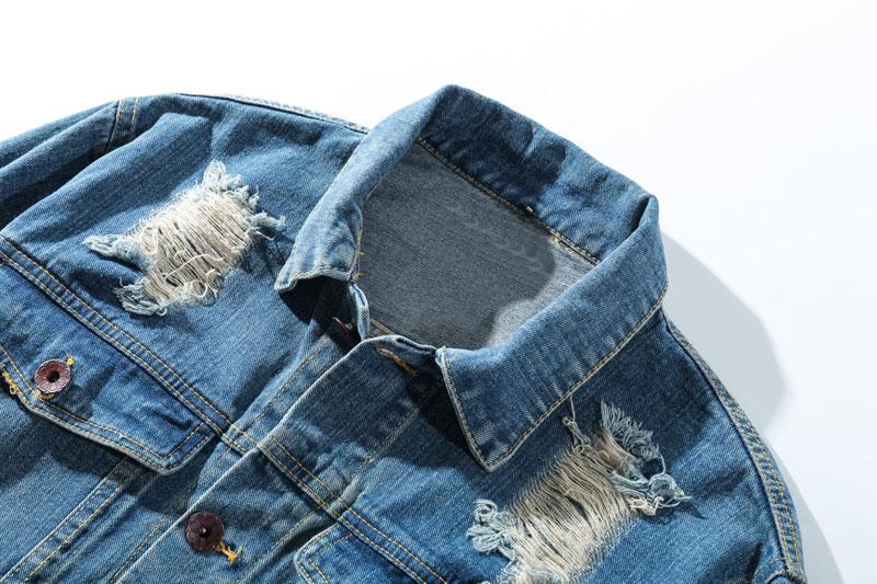 Ripped Hole Destroyed Denim Jackets 2
