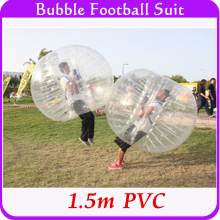 Summer Outdoor Bubble Football Inflatable Human Hamster Ball 1.5m PVC Air Bumper Body Ball, Bubble Soccer Zorb Ball For Sale(China)