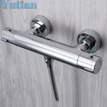 Free Shipping Wall Mounted Two Handle Thermostatic Shower Faucet Thermostatic Mixer , Shower Taps Chrome Finish,YT-5311-B