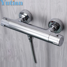 Free Shipping Wall Mounted Two Handle Thermostatic Shower Faucet Thermostatic Mixer , Shower Taps Chrome Finish,YT-5311-B(China)