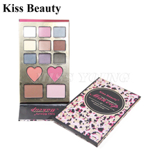 Matte Eyeshadow Pallete Makeup Faced palette love flush two blush blonzer palette pigment chocolate bar and sweet peach color