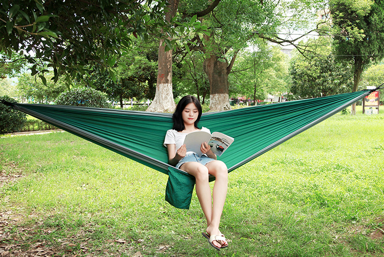 Double person Hammock Portable Parachute Nylon Fabric Travel Ultralight Camping hamak Outdoor Furniture casual hanging bed hamma 4