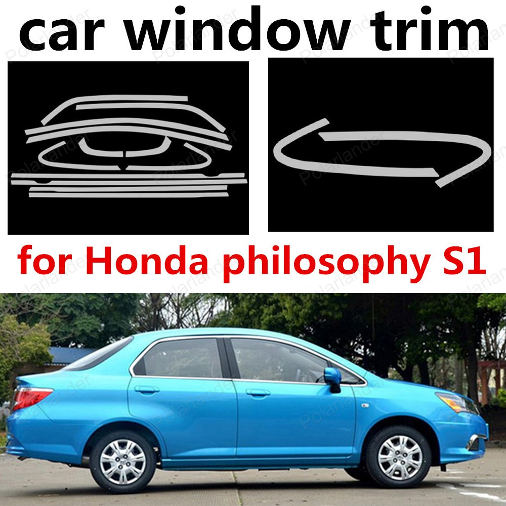 hot!! Chromium Styling Stainless steel for Honda philosophy S1 Car window trim decoration cover<br><br>Aliexpress