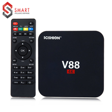 SCISHION Quad SCISHION V88 4K Android 5.1 Smart TV Box Rockchip 1G/8G 4 USB 4K 2K WiFi Full Loaded Quad Core 1.5GHZ Media Player