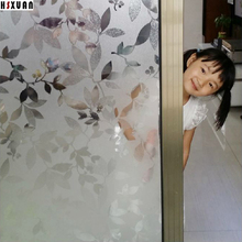 92x100cm leaf printing sliding glass door home decor self Adhesive No glue sunscreen window film cling paper Hsxuan brand 920820(China)