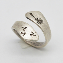 1pcs Women Bohemia Lucky Rings Minimalist Plant Ring Dandelion Ring For Her Gift RG90