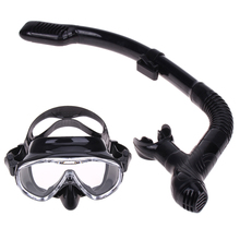 Professional Silicone Diving Mask Snorkel Anti-Fog Goggles Glasses Set Swimming Equipment Snorkel Breathing Tube Set(China)