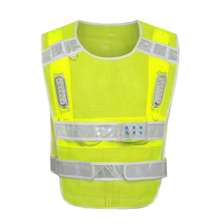 Multi-function Chargingable Cycling LED Reflective  Safety Vest Reflective Warning Clothing <br>