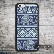 Vintage Blue Elephant Aztec Case For iPhone 7 6 6s Plus 5 5s SE 5c and For iPod 5 High Quality Tribal Animal Phone Cover