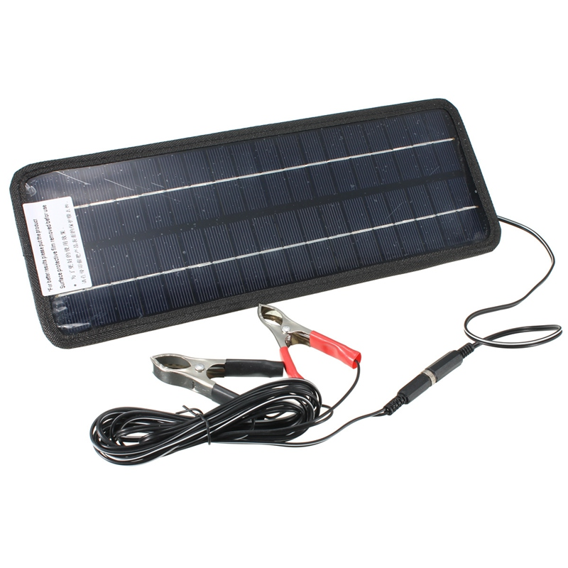 Hot 12V 4.5W Solar Panel Portable Monocrystalline Solar Charger Module System For Car Automobile Boat Rechargeable Power Battery(China (Mainland))