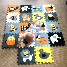 MEIQIKCOOL 30*30*1cm Educational Baby play Mat Puzzle mat Environmental Non-toxic Crawling Mat Kids Gym Play Mat Educational
