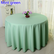 Mint green colour wedding table cover table cloth polyester table linen hotel banquet round tables decoration wholesale(China)