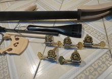 One set 5strings 3/4 Upright Bass part:(neck,fingerboard,bridge,tailpiece,pegs )