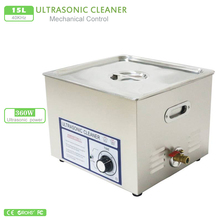 15L Stainless Tank 360W 40KHz Baskets Jewelry Lavatrice Ultrasuoni Cleaning Industry Ultrasonic Bath Ultrasonic Cleaner PS-60T