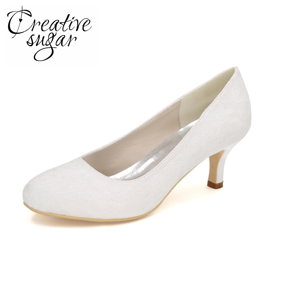 Creativesugar simple closed toe slip on lady satin dress shoes 6cm heels white purple champagne royal blue red silver grey red<br>
