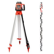 Buy ROTARY GREEN LASER LEVEL + TRIPOD + STAFF ELECTRONIC SELF LEVELING REMOTE CONTROL 500M RANGE 360 DEGREE ROTATING GREEN BEAM for $350.46 in AliExpress store