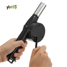 YOTOP Stainless Steel BBQ Hand Fan Manually Outdoor Barbecue Fan Air Blower For Barbecue Fire Picnic Camping Outdoor