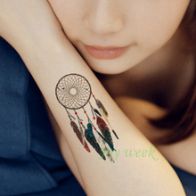 Waterproof Temporary Tattoo sticker body art dreamcatcher dream catcher tatto stickers flash tatoo fake tattoos for girl women