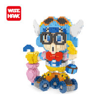 China Nano blocks Kawaii Anime girls lno big Arale figures micro plastic building bricks diy cartoon model educational toys.