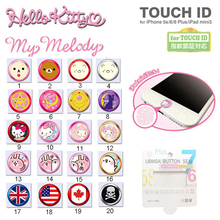 Cute Cartoon Touch ID Home button Sticker for IPhone 7 5s 6 6s plus Se Support Fingerprint Unlock