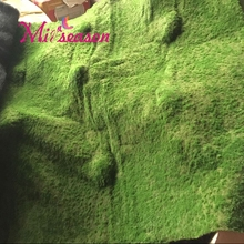 Commission 1*1m/1*2M Artificial Forest Style Moss Turf Mirco- Landscape Plant Wall Decoration Fake Grass Home Party Hotel Decor(China)