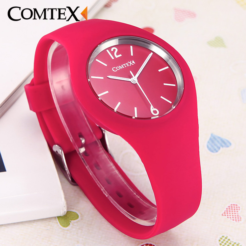 Watches Women Comtex brand Fashion Casual quartz watches Silicone Sport relojes mujer women watches sport men watches boys clock<br><br>Aliexpress