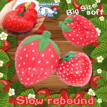 2017 New 11CM Jumbo Squishy Slow Rising Red Strawberry Kawaii Cute Phone Straps Sweet Scented Bread Cake Kid Toy Gift