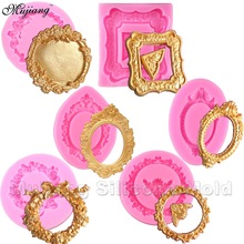 DIY Mirror Fondant Cake Decorating Tools Frame  Cupcake Chocolate Wedding Cake Border Silicone Molds Kitchen Baking Moulds