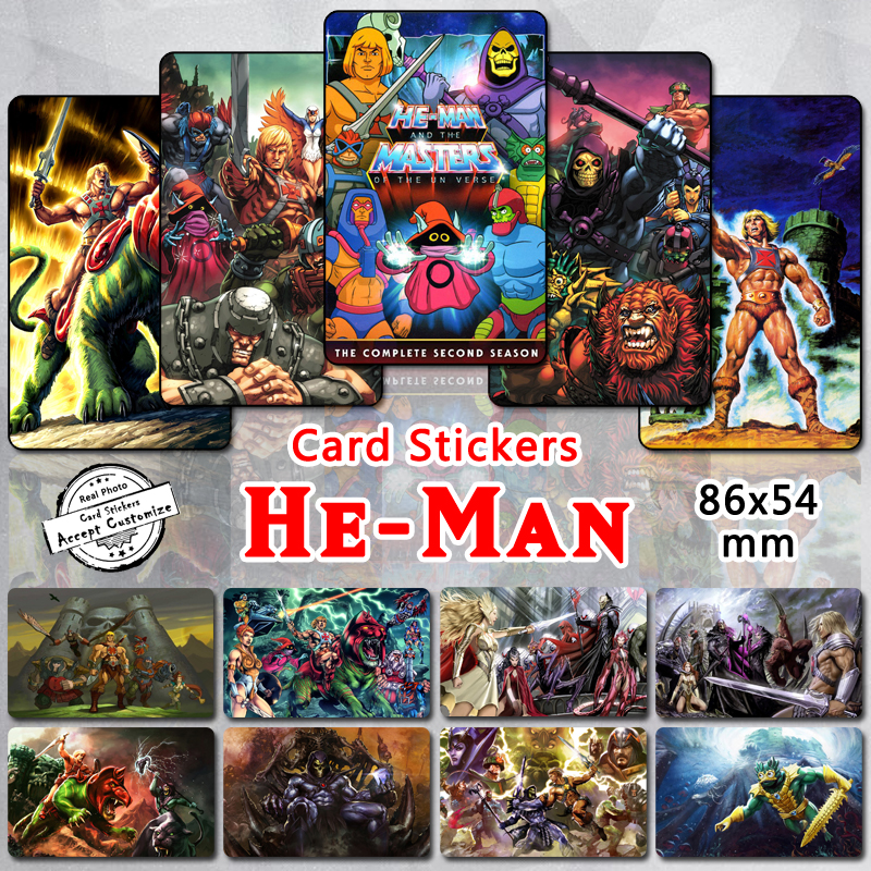 35pcs lot set He-Man Cards Stickers 80s Cartoon Characters Masters of Universe