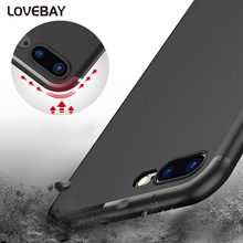 Frosted Phone Case For iPhone 7 7 Plus 6 6s 6s Plus Ultra-Thin Soft TPU Mobile Phone Case Dust Plug Full Protect Cover Bags Capa