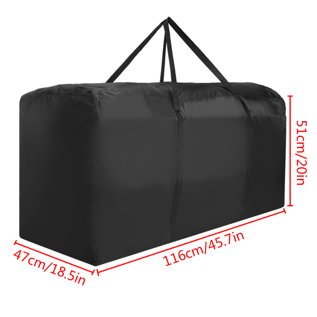 Mayitr Outdoor Garden Large Capacity Furniture Storage Bag Cushions Upholstered Seat Storage Bags Protective Cover