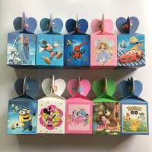 6pcs Elsa and Anna Mickey Candy Box Kids Birthday Party Decoration Wedding Favors Paper Gift Boxes Baby Shower Supplies(China)
