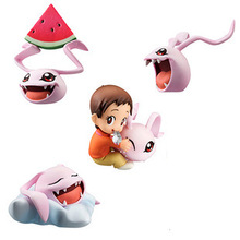 New Arrival 4pcs/lot 5CM pvc Japanese anime figure Digital Monster/digimons action figure collectible model toys brinquedos(China)