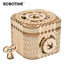 Robotime Wooden Puzzle Toy Game-Assembly Treasure-Box Gift 3D Creative Adult Teens Children