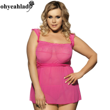 RS7001P Ohyeahlady pink erotic lingerie plus size hot sale sexy lingerie hot company new arrival XL-6XL fashion sexy lingerie
