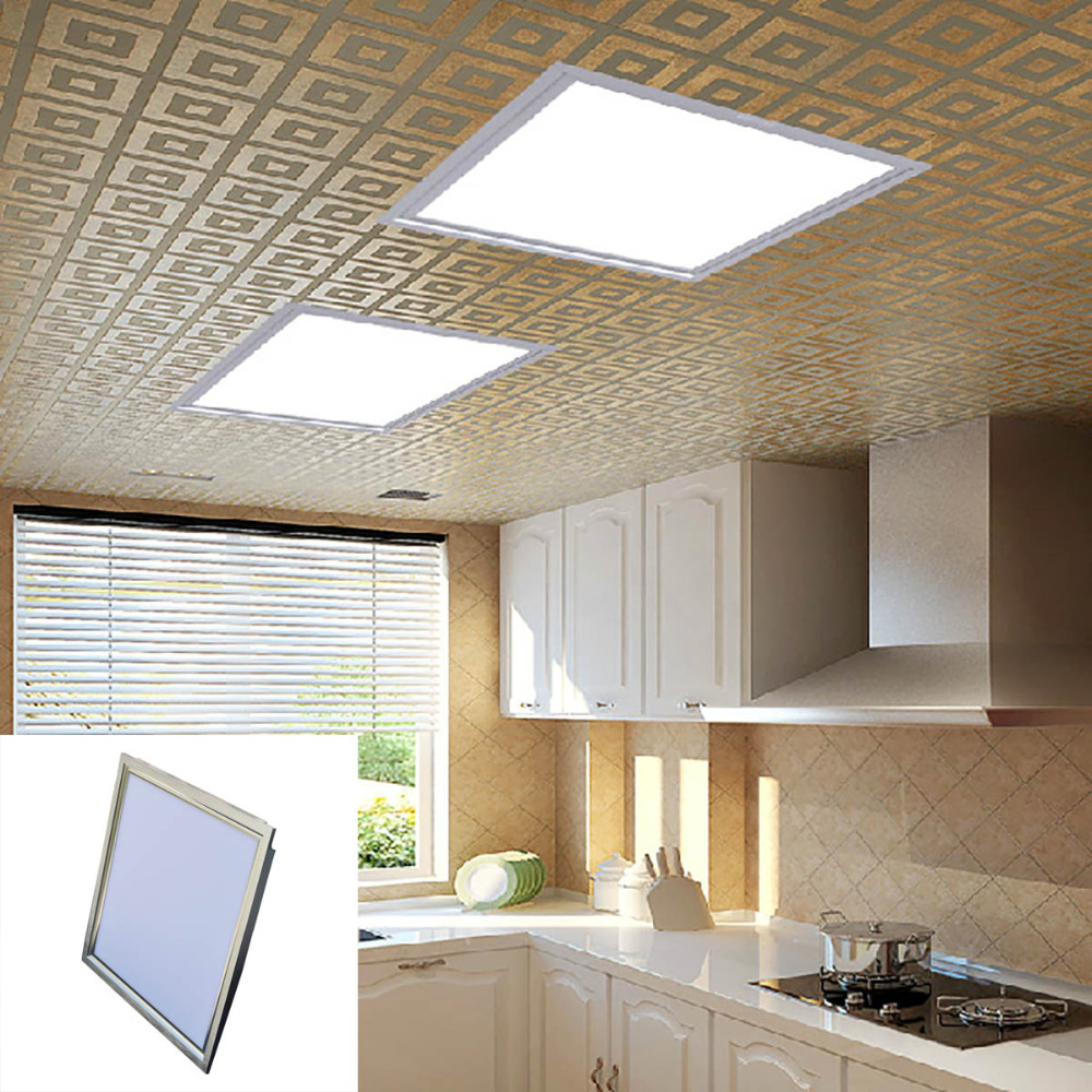 Jiawen 2pcs/lot 18W 300x300mm Ultra-thin LED Ceiling Panel Lamp White 90-3014 SMD 6500K 1650lm (AC 100~240V)<br>