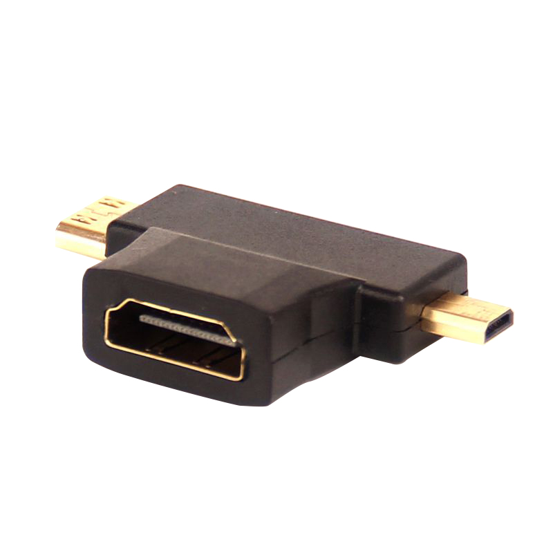 High quality 3 in 1 Mini /Micro HDMI Male to Female HDMI 1.4 Cable Adapter Converters for phone camera Card Readers 200pcs