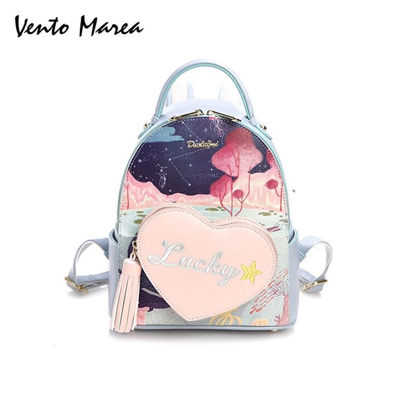 Floral Printing Backpack Preppy Style School Backpack Pu Leather Fashion Women Shoulder Bag For Teens Girls Bolsa Feminina 2017<br>