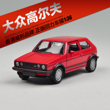 Welly VW 1983 GOLF GTI Red Model 1:36 Diecast Models Toys model cars Alloy Car Pull Back Car Children's Toy Cars Kids Toys