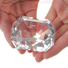 K9 Crystal Rectangl Diamond Cut Glass Jewelry Paperweight Crafts Collection Souvenir Birthday Christmas Wedding Gifts Decoration