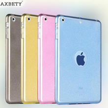 Fashion tpu Case For apple Ipad Air 2 Case glitter Silicon Transparent Protection cover For iPad air 2 iPad 6 Soft Plastic case