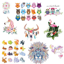 Prajna Cute Cartoon Heat Transfer Vinyl Iron On Patches Clothes Stickers For Clothes Sweater DIY GradeA Thermal Transfer Sticker(China)