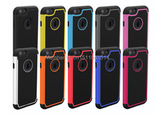 New 2 in 1 Hybird Shockproof Protection PC Plastic Hard TPU Silicone rubber soft football Case For iphone 6