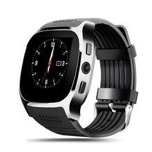 T8 Bluetooth Smart Watch With Camera Music Player Facebook Whatsapp Sync SMS Smartwatch Support SIM TF Card For Android(China)