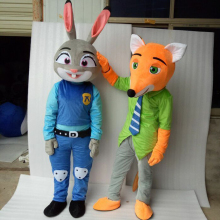 ohlees cheap actual picture Judy Hopps Nick Wilde Crazy animal City Nick Fox Zootopia cartoon movie character mascot costumes