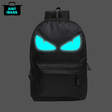 Nylon Casual men's printing backpack luminous teenager boy girl women's college student cartoon school book bag laptop Backpack